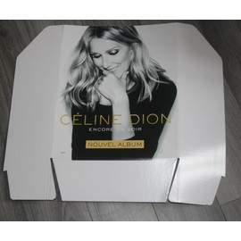 superbe PLV officielle cartonnée rigide 50x60cm CELINE DION 2016 encore un soir