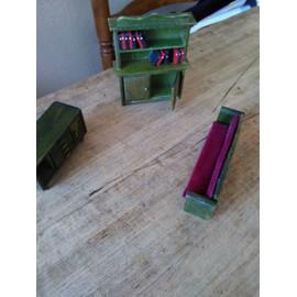 lot de 3 meubles en bois pour maison de poupee