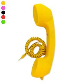 Combiné fixe filaire filaire kitsch téléphone rétro micro haut par blanc