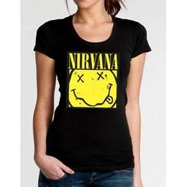 T-Shirt Nirvana Box Smiley - Femme