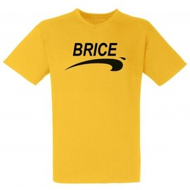 T-Shirt Homme Jaune COL V Brice de Nice 3 - Jean Dujardin