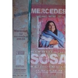 MERCEDES SOSA AFFICHE CONCERT EN FRANCE