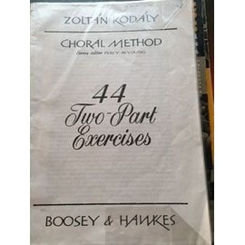 Zoltan Kodaly Choral method 44 two part exercices
