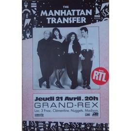 MANHATTAN TRANSFER GRAND REX  AFFICHE