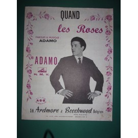 """Adamo """"Quand les roses"""""""