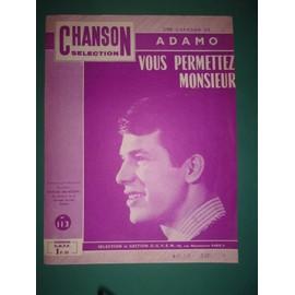 """Adamo """"Vous permettez Monsieur"""""""