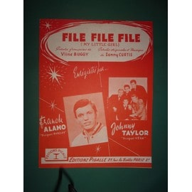 "Frank Alamo, Johnny Taylor ""File file file"" (orange"""