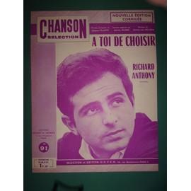 """Richard Anthony """"A toi de choisir"""" (violette)"""
