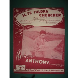 "Richard Anthony ""Il te faudra chercher"""
