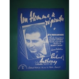 """Richard Anthony """"Un homme a répondu"""""""