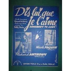 "Richard Anthony ""Dis lui que je l'aime"""