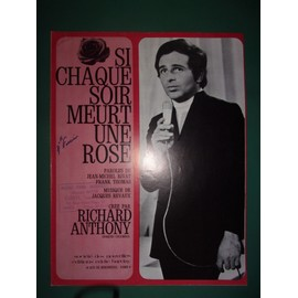 "Richard Anthony ""Si chaque soir meurt une rose"""