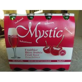 Image 8 Bout. La Mystic 3,5% Alc. Rafraîchissante Et Digeste. Cont. 25cl Avec Min. 25% De Jus De Cerises. Louvrir À 3 C La Servir Dans Un Verre À Champagne. Cu