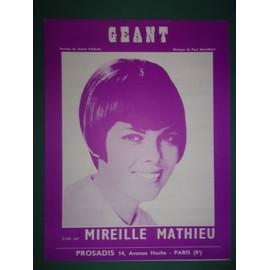 """mireille mathieu """"Géant """""""
