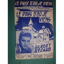 "Gilbert Bécaud ""Le pays d'où je viens"""
