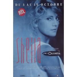SHEILA OLYMPIA 89 AFFICHE DEDICACEE