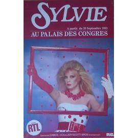 SYLVIE VARTAN PALAIS CONGRES 1983 AFFICHE