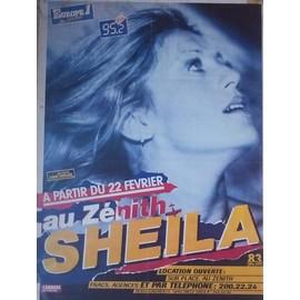 SHEILA ZENITH 1985 AFFICHE/POSTER