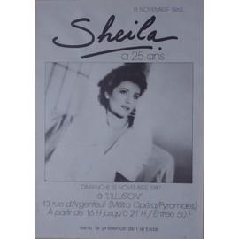 SHEILA A 25 ANS - AFFICHE