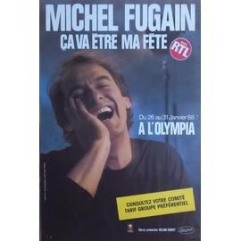 MICHEL FUGAIN OLYMPIA 88 - AFFICHE