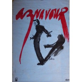 CHARLES AZNAVOUR - AFFICHE 118 x 80