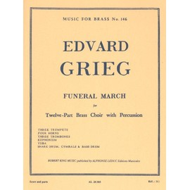 funeral march pour 12 cuivres et percussion - music for brass n° 146