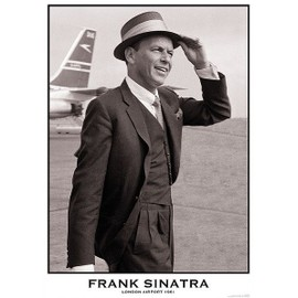 Frank Sinatra - London Airport 1961 - AFFICHE / POSTER envoi en tube - 59x84 cm