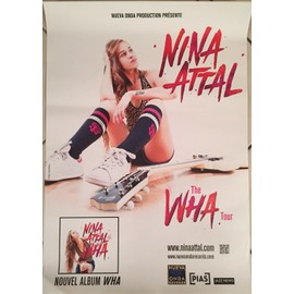 Nina ATTAL - The Wha Tour - AFFICHE / POSTER envoi en tube - 40x60 cm