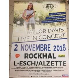 Taylor Davis - Live In Concert - AFFICHE / POSTER envoi en tube - 80x120 cm