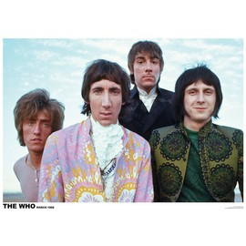 The Who - March 1968 - Mars - AFFICHE / POSTER envoi en tube - 59x84 cm