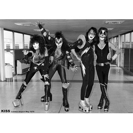 KISS - London Airport 1975 - AFFICHE / POSTER envoi en tube - 59x84 cm