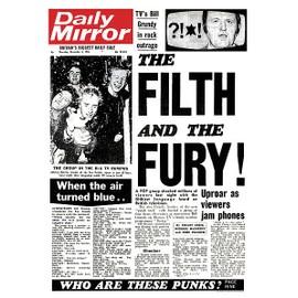 Sex Pistols - Daily Mirror - AFFICHE / POSTER envoi en tube - 59x84 cm