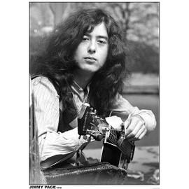 Jimmy PAGE - 1970 - Led Zeppelin - AFFICHE / POSTER envoi en tube - 59x84 cm