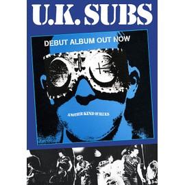 U.K. Subs - Another Kind Of Blues - AFFICHE / POSTER envoi en tube - 59x84 cm