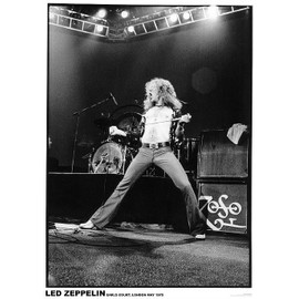 Robert Plant - Led Zeppelin - Earls Court - Mai 1975 - AFFICHE / POSTER envoi en tube - 59x84 cm
