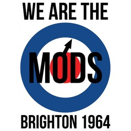 We Are The Mods - Brighton 1964 - AFFICHE / POSTER envoi en tube - 59x84 cm
