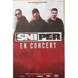 Sniper - En Concert - AFFICHE / POSTER envoi en tube - 40x60 cm