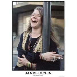 Janis JOPLIN - London 1969 - AFFICHE / POSTER envoi en tube - 59x84 cm