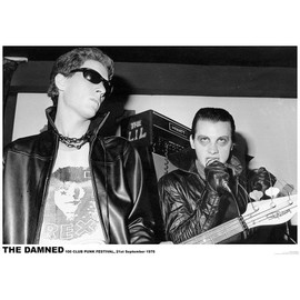 The Damned - 100 Club Punk Festival - Septembre 1976 - AFFICHE / POSTER envoi en tube - 59x84 cm