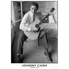 Johnny CASH - London 1959 - AFFICHE / POSTER envoi en tube - 59x84 cm