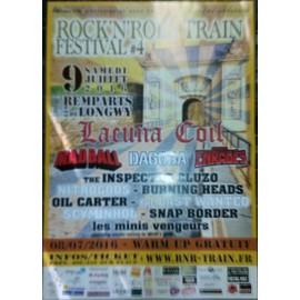 Rock 'n' roll Train - Lacuna Coil - Mad Ball - AFFICHE / POSTER envoi en tube - 40x60 cm