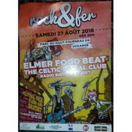 Rock & Fer - Elmer food Beat - Uckange - AFFICHE / POSTER envoi en tube - 30x42 cm