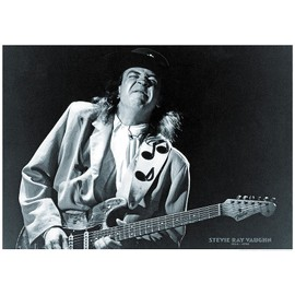 Stevie Ray Vaughan - 1954 - 1990 - AFFICHE / POSTER envoi en tube - 59x84 cm