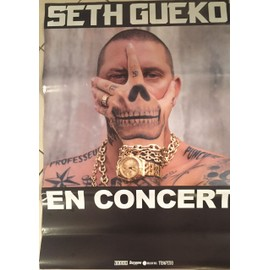 Seth Gueko - En Concert - AFFICHE / POSTER envoi en tube - 80x120 cm