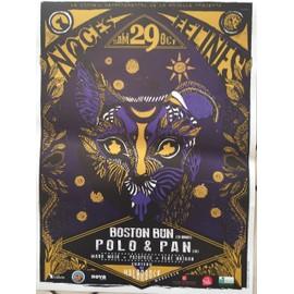 Noces FELINES - Boston Bun / Polo & Pan - AFFICHE / POSTER envoi en tube - 30x40 cm