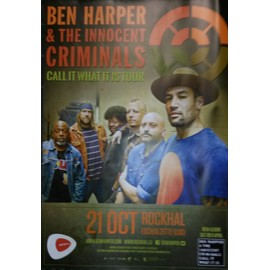Ben Harper - Call It What It Is Tour - AFFICHE / POSTER envoi en tube - 60x80 cm