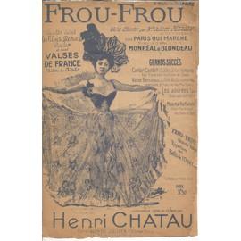 """PARTITION POUR CHANT XXème (1944) """"FROU-FROU"""", Chanson-Valse"""