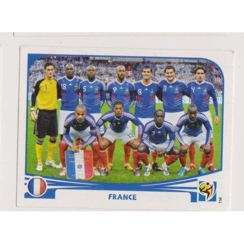 Image panini south africa 2010 equipe de france 87