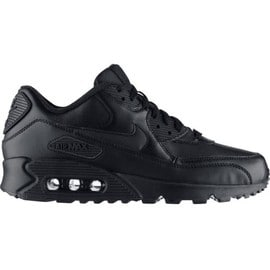 buy online 00b22 10b72 Nike Air Max 90 Leather - Baskets Noires - 302519-001