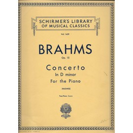 vol. 1429 - brahms op. 15 concerto in d minor for the piano arranged fo a second piano